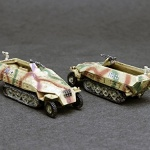 German Halftracks at 1/144 scale.