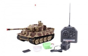 RC Tiger tank with desert camouflage from Afrika Korps