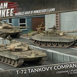 Team Yankee Flames of War T-72 tank platoon