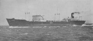 The Chigusa Maru,  second sister of the carrier Yamashio Maru, as oil tanker after the war.