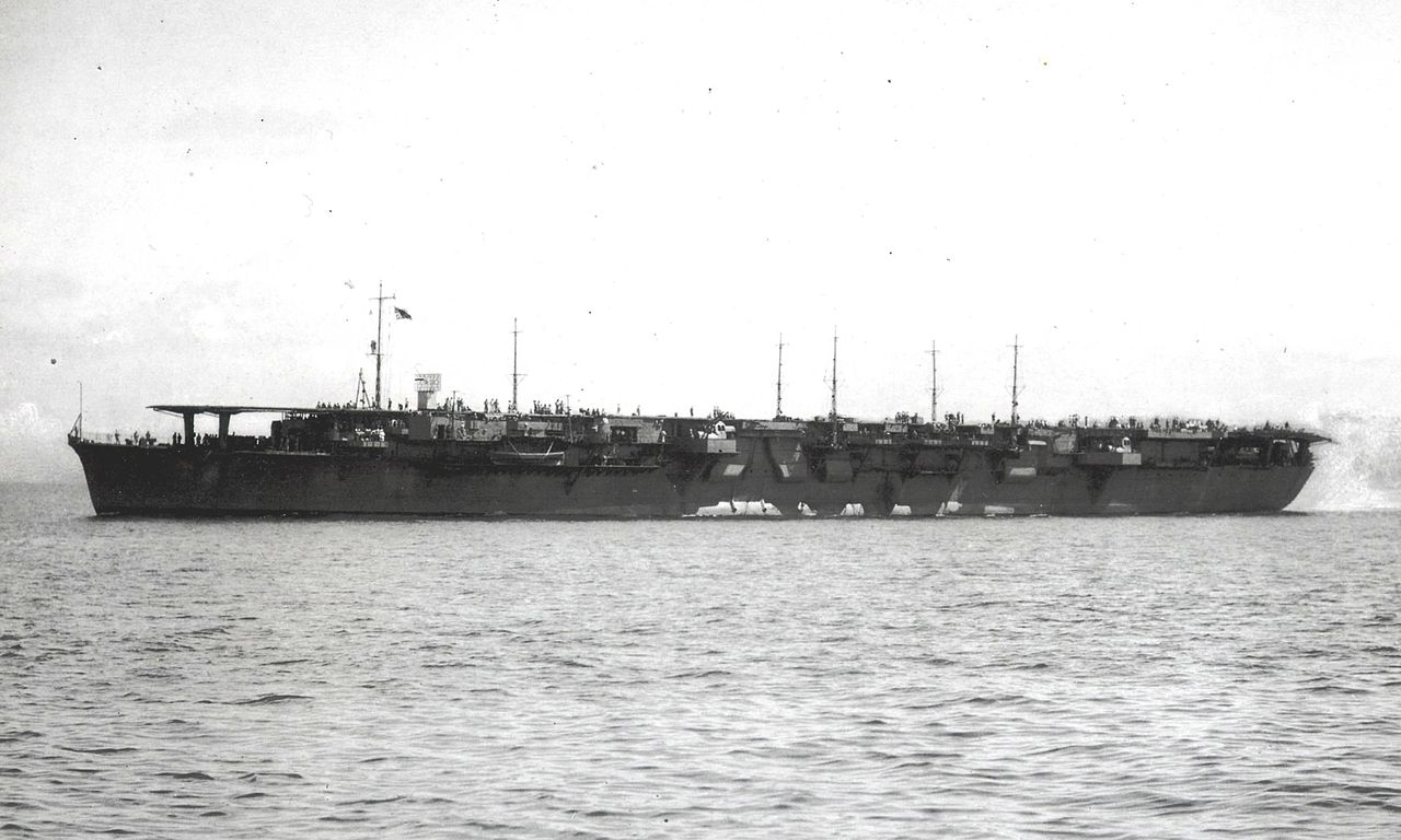 Aircraft carrier Chitose in 1944.