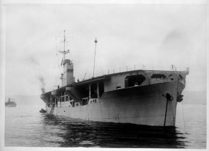 M/V Rapana, an oil tanker converted into a MAC (merchant aircraft carrier).