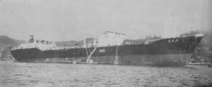 The Zuiun Maru, the third sister of the Yamashio Maru carrier, operating as oil tanker after the war.
