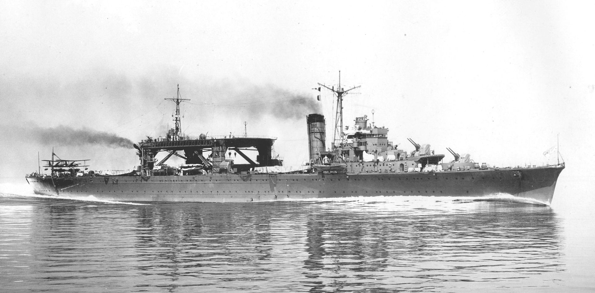 Seaplane Tender Cruiser Chitose before conversion in 1938.
