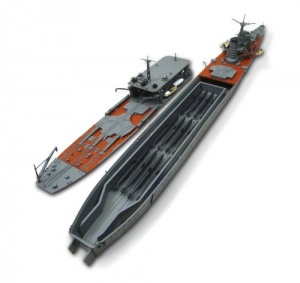 Chiyoda Seaplane and midget submarine tender configuration. model kit at 1/700