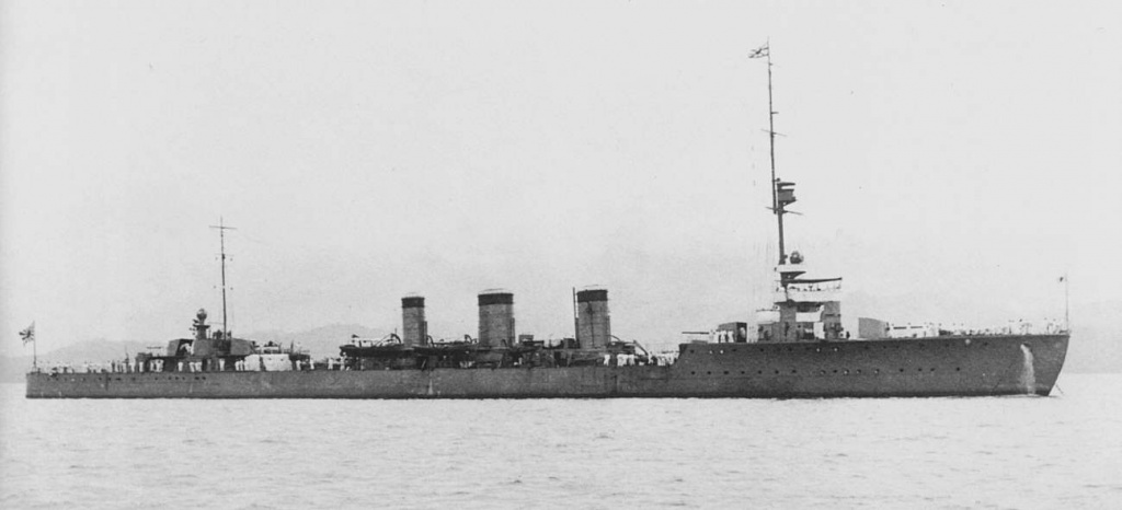 A lateral view of the IJN cruiser Tatsuta in 1919