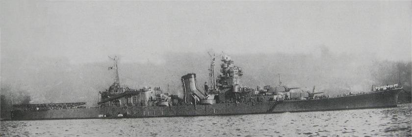 Japanese cruiser Oyodo in 1943