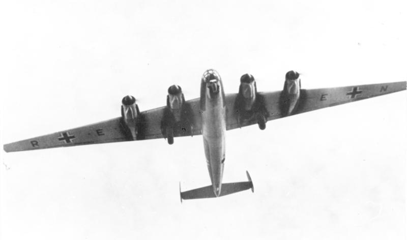 German Strategic Bomber Messerschmitt_Me-264. Also known as Amerika Bomber