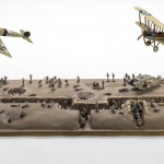 Battle of Somme representation at 1/72 scale with airplanes by Airfix.