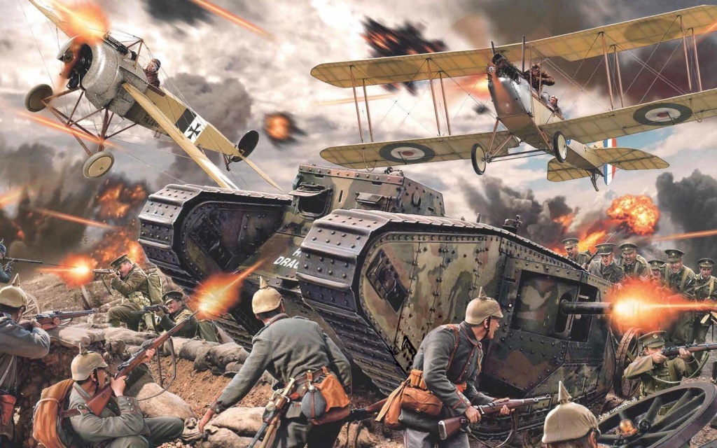 An illustration of the Battle of Somme.