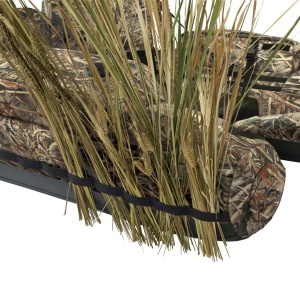 Very impressive camouflage of the marshland duck hunting and fishing Float Tube.