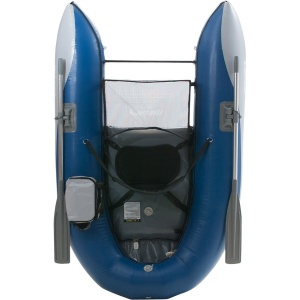 A top view of the  Fish Cat Scout Boat in Blue color.