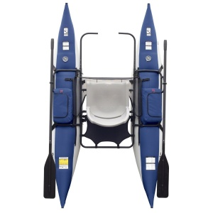 A top view of the Classic Accessories Roanoke Inflatable Pontoon Boat