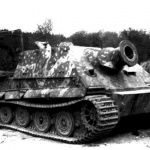 Sturmpanzer VI Sturmtiger abandoned by crew photographed on 14. April 1945