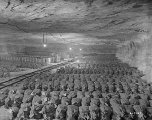 German Gold reserves hidden in a mine. Cpl. Donald R. Ornitz, Photographer - American Commission For the Protection and Salvage of Artistic and Historic Monuments In War Areas.