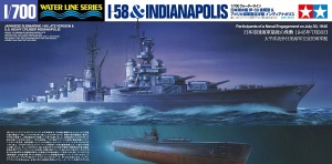 1/700 scale I-58 and CA-35 model kits from Tamiya. Reproducing the battle occurred on July 1945.