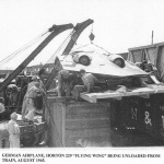 Unloading of captured Horten Ho 229 V3 in the USA