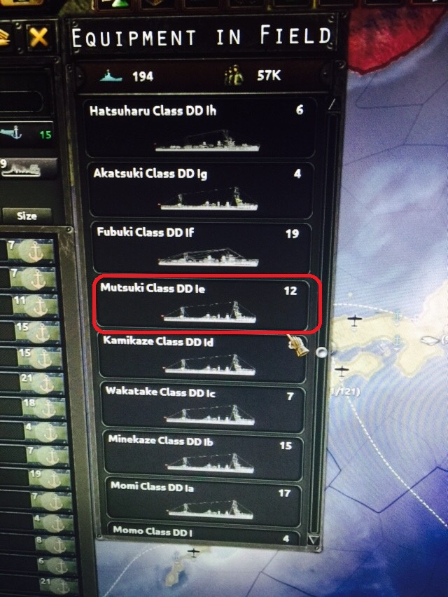 IJN Destroyer fleet in Hearts of Iron 4