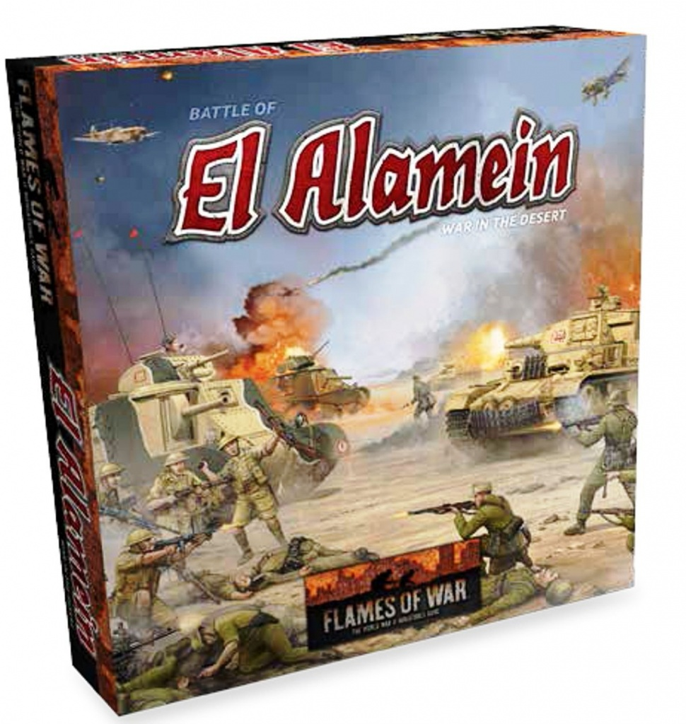 The Alamein battle for Flames of War wargame