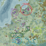 AAR War in the East. Barbarrosa snapshot view after 2 turns: 3rd July 1941.