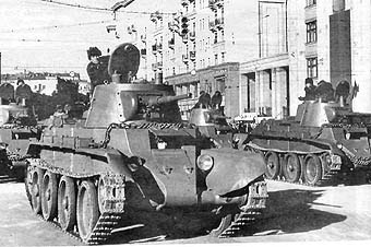 BT-7  Soviet cavalry tanks