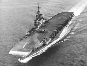 Carrier HMS Illustrious commissioned on 25 May 1940.