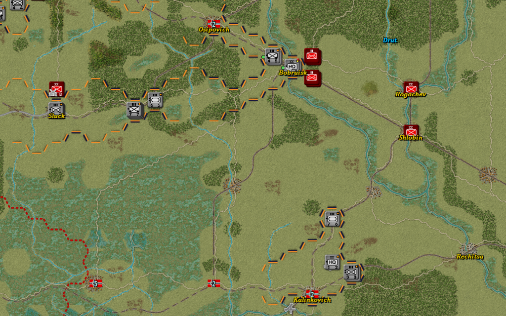 Situation of the Front in the south after German Turn 12