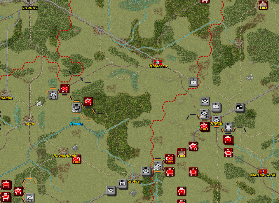 Situation after Turn 9
